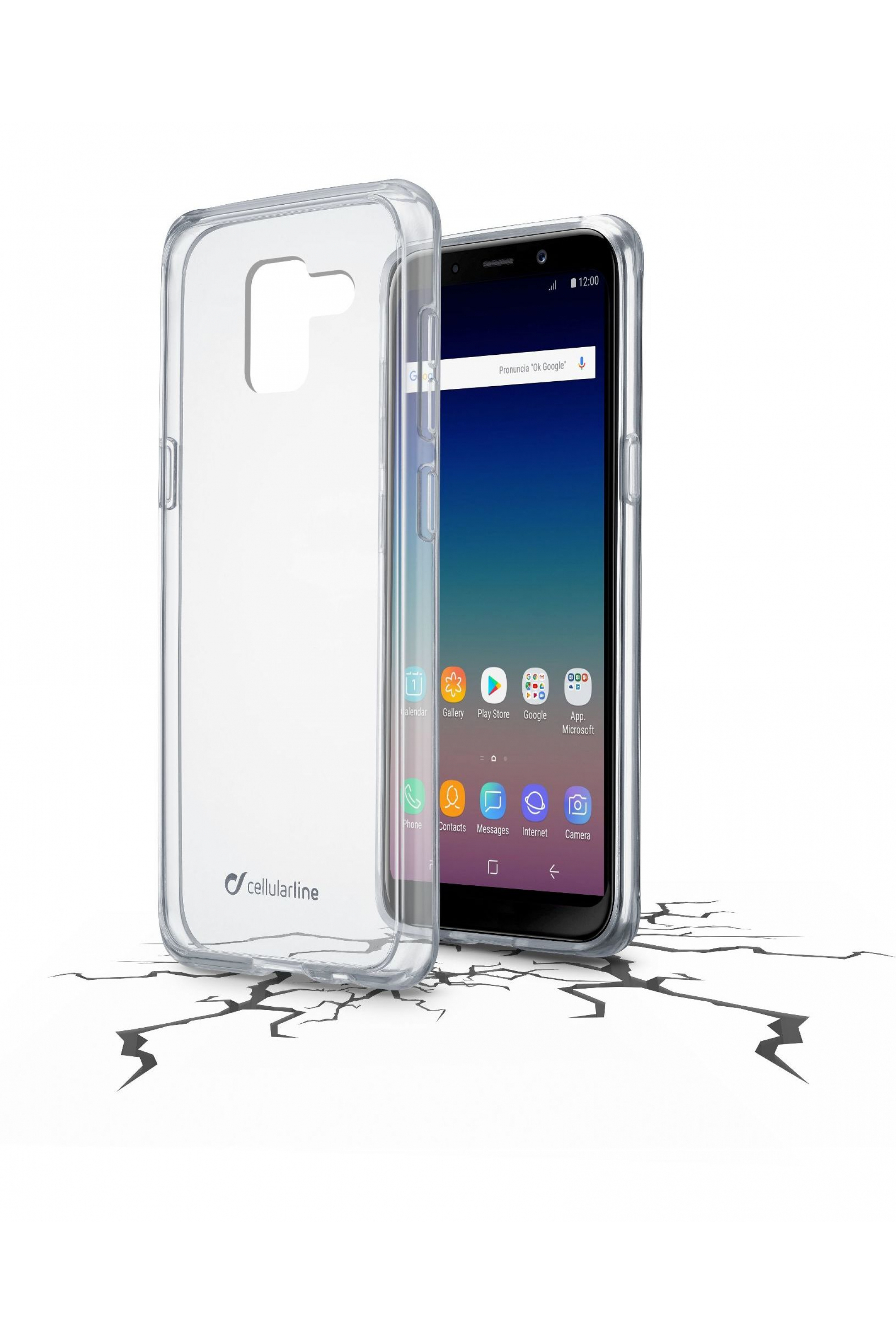 Cellular Line Cover Samsung Galaxy J6 (2018) - Clearduogalj618t
