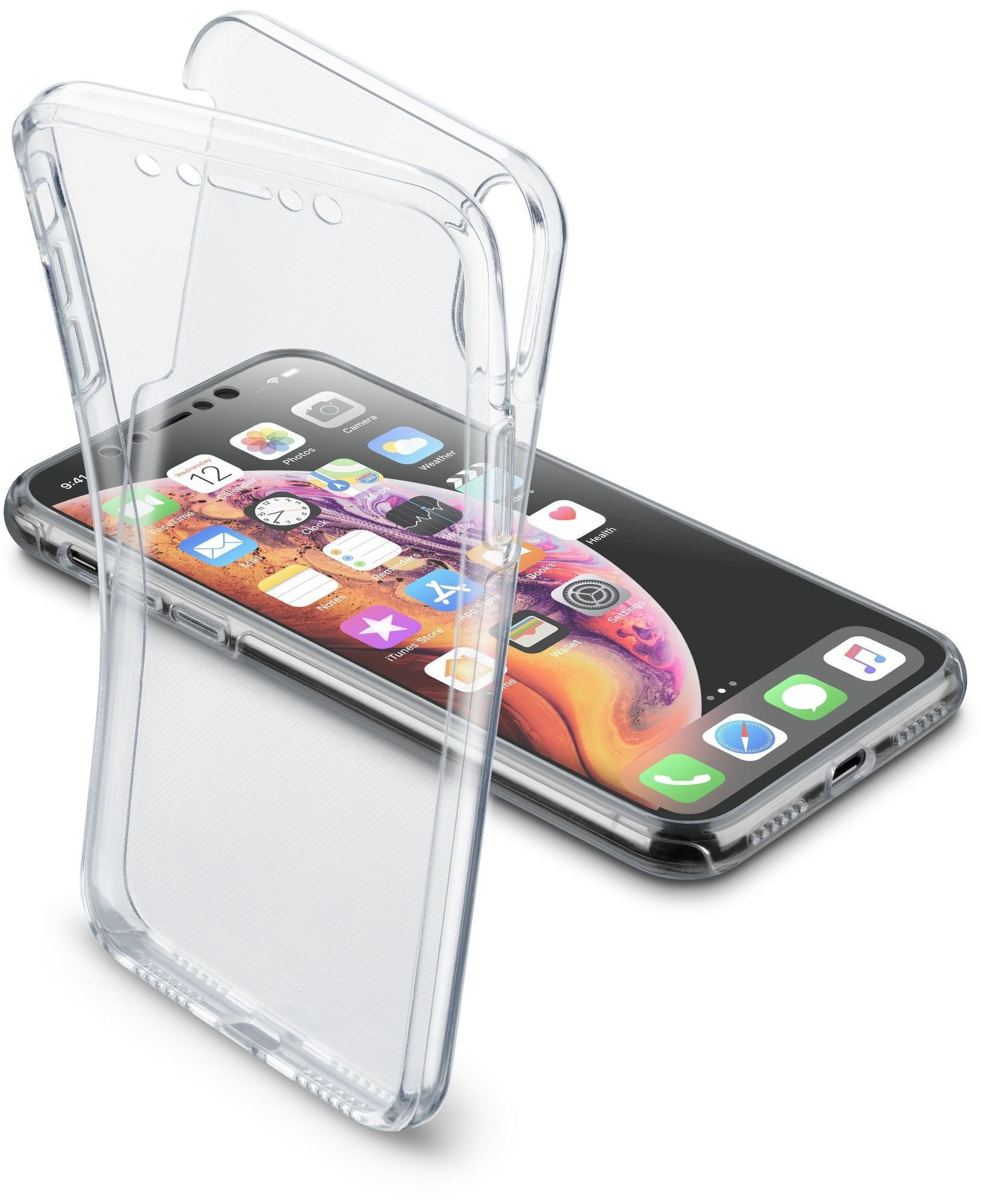 Cellular Line Cover a 360° iPhone Xs Max - Cleartouchiphx65