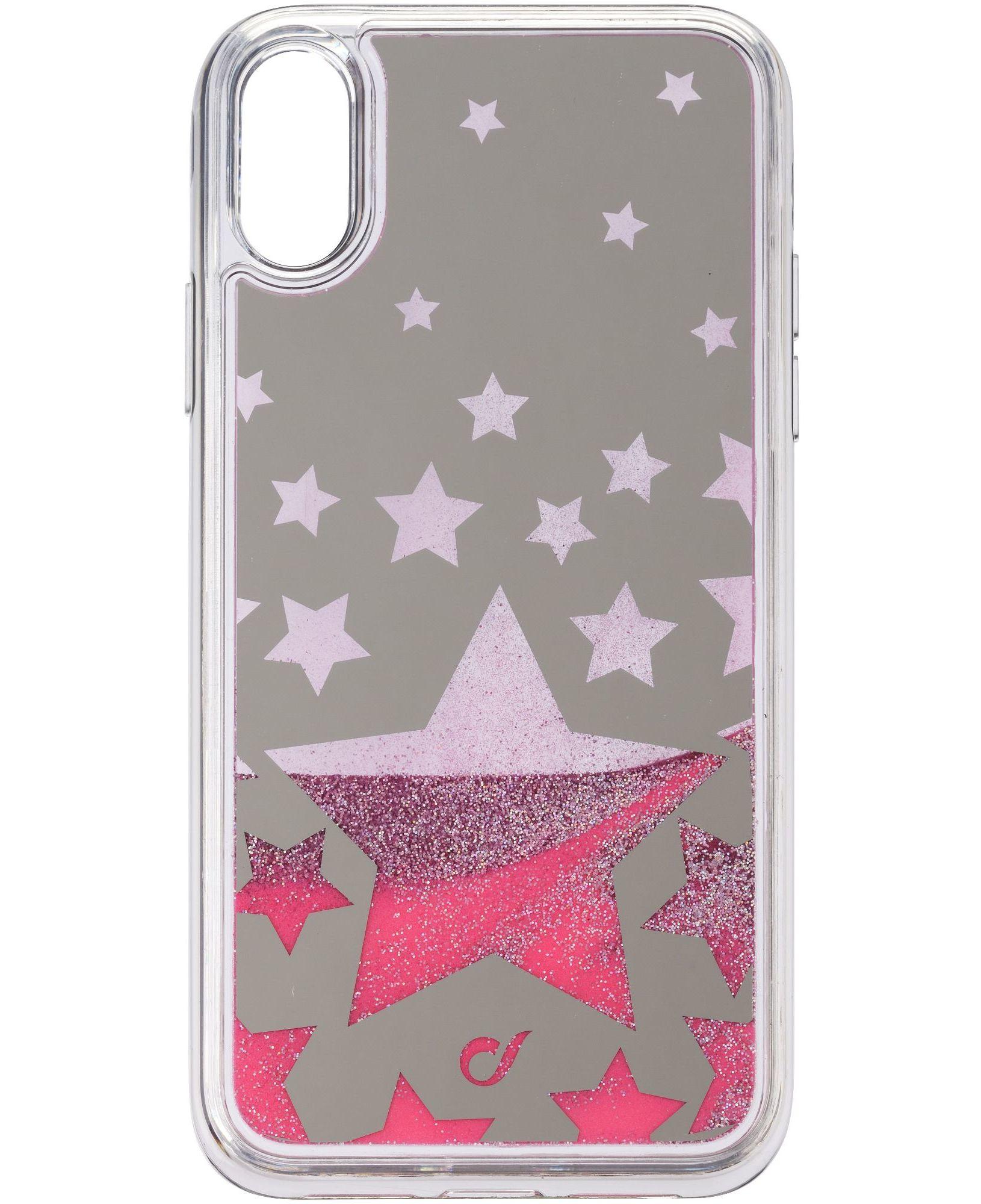 Cellular Line Stardust - iPhone XR Custodia rigida con bordi in gomma - Starduststariph961