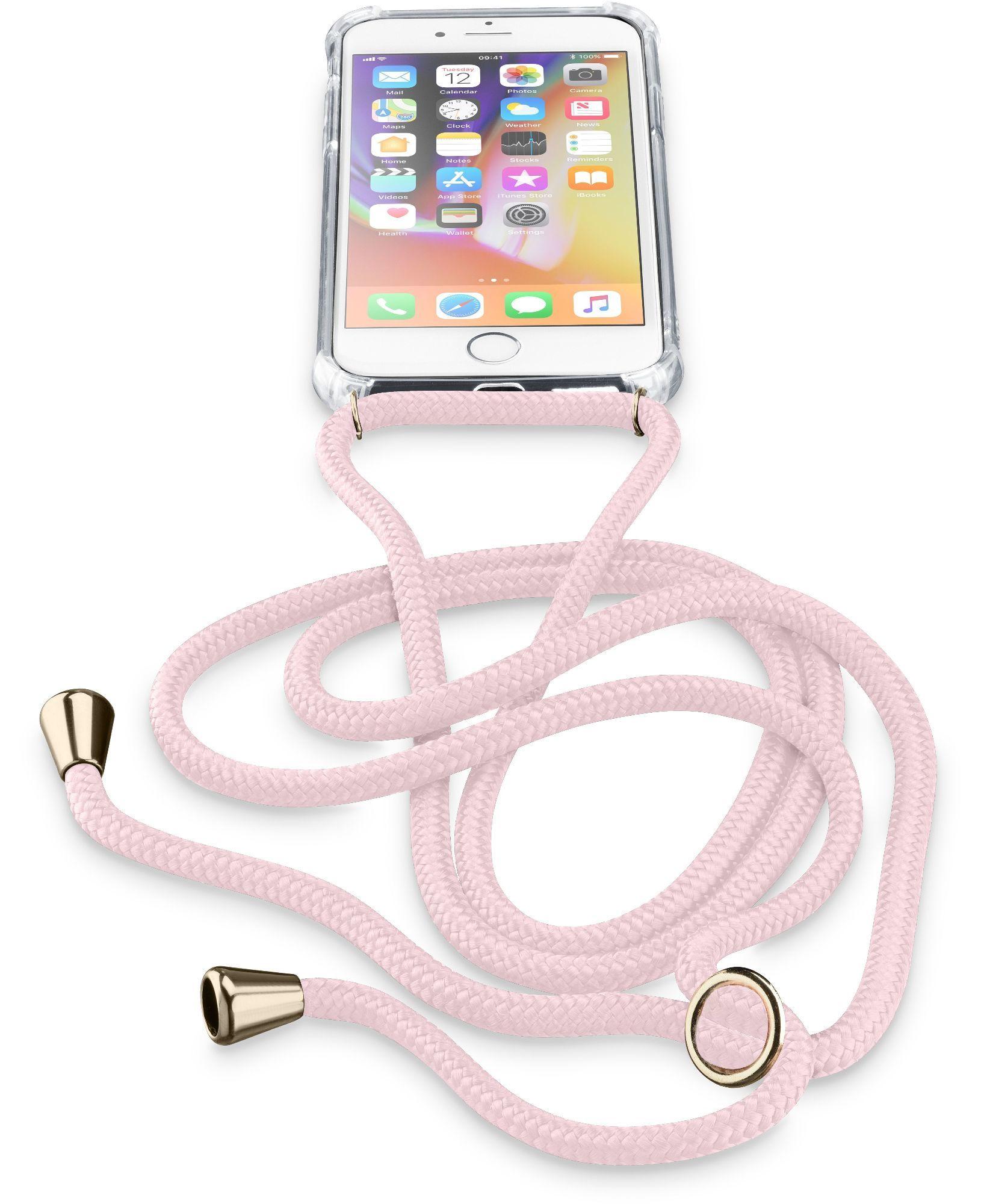 Cellular Line Neck-Case, iPhone 8, iPhone 7, iPhone 6, Custodia trasparente con Cordino regolabile - Neckcaseiph747p