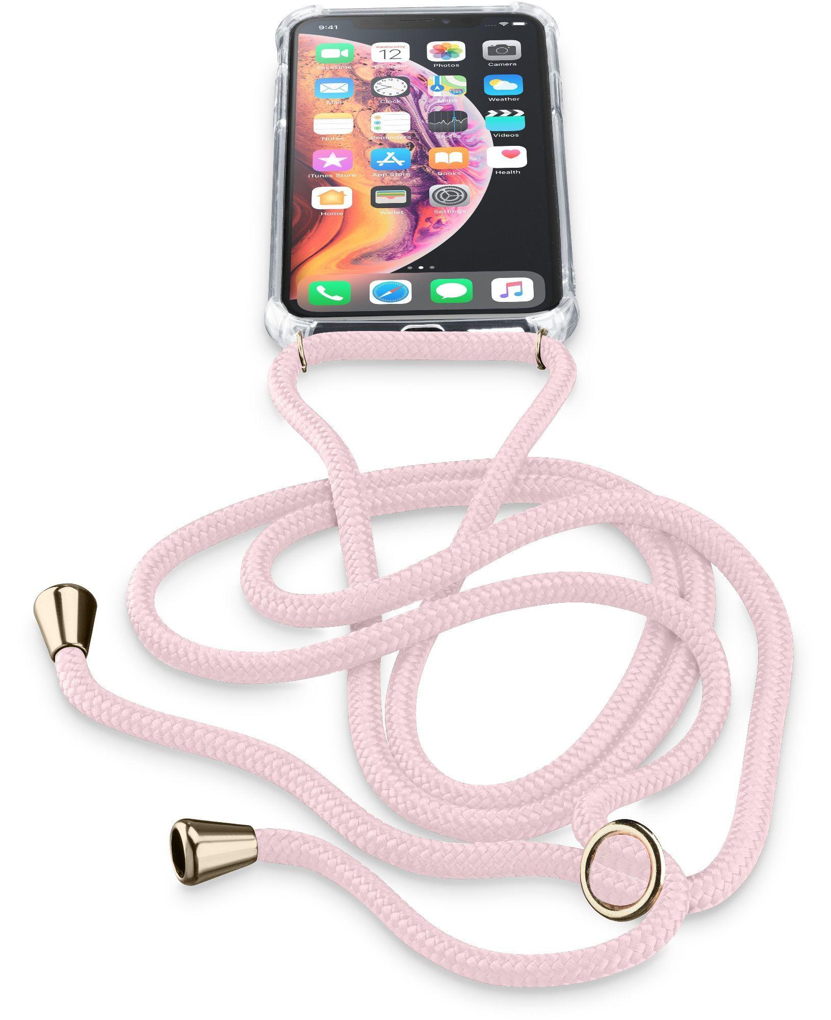 Cellular Line Neck-Case, iPhone Xs, iPhone X, Custodia trasparente con Cordino regolabile - Neckcaseiph8xp