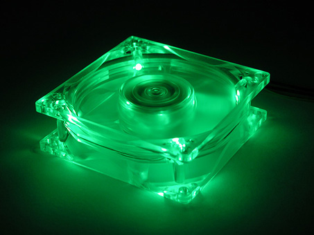 Cooler Master Cooler Master Neon LED Fan 120x120mm - Tlfs12ebgp  ventola led verde