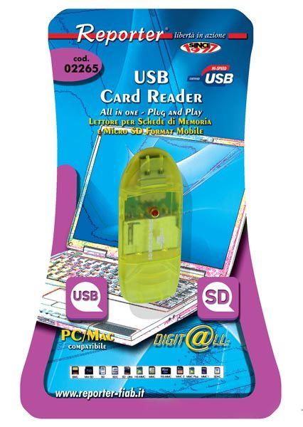 Reporter Card Reader per schede di memoria tipo SD-MMC - 02265