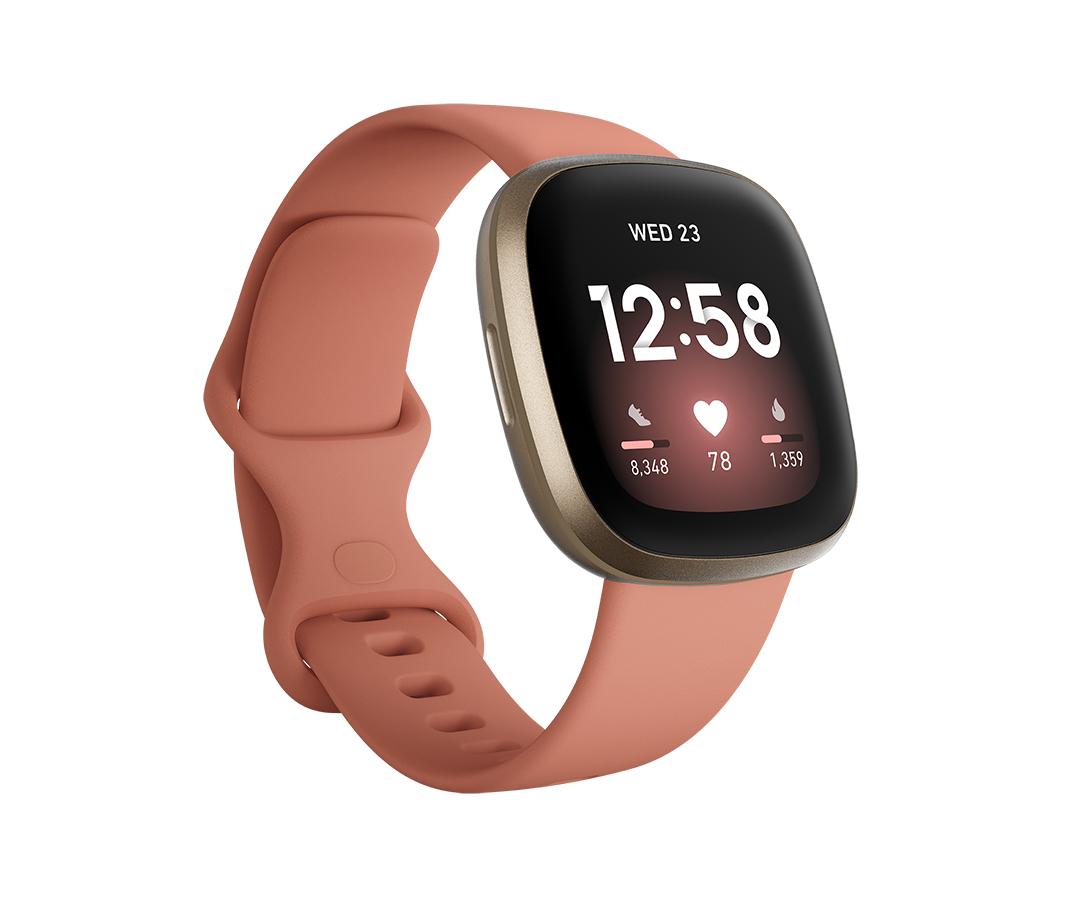 Fitbit - Versa 3 Rosa/Oro