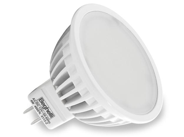 Beghelli LED 4W, - 56033 - ECO MR 16 LED 3.6W GU5.3 - 3000K