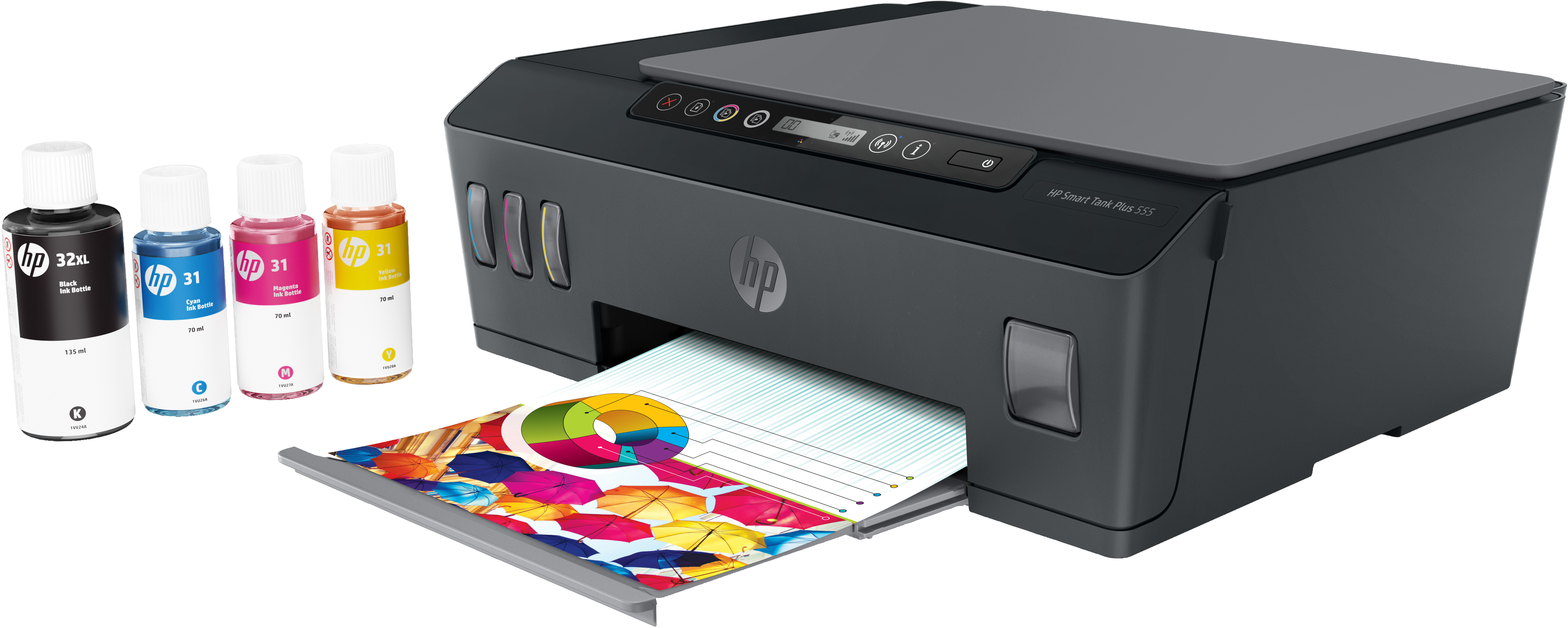 Hp - Smart Tank Plus 555 - Grigio
