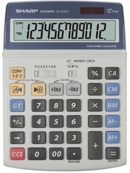 Sharp  - calcolatrice El 2125 C