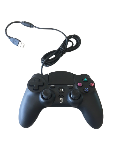Controller wired JUVENTUS nero Joypad Compatibile Playstation 3/4/PC