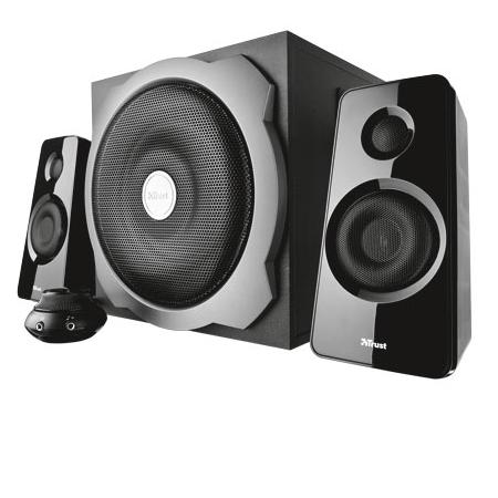 TRUST Set di altoparlanti 2.1 con subwoofer in legno - SPEAKER SET TYTAN 2.1