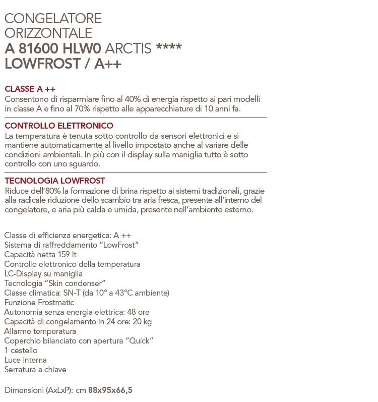 AEG Congelatore orizzontale - A81600HLW0