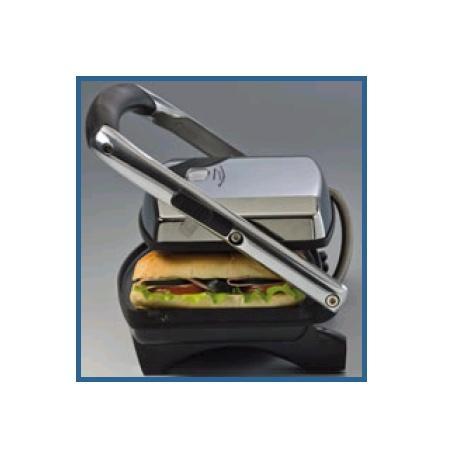 ARIETE Piastra elettrica antiaderente rigata per preparare ottimi sandwich, panini, hot dog, hamburger o spiedini - TOSTA E GRILL SLIM
