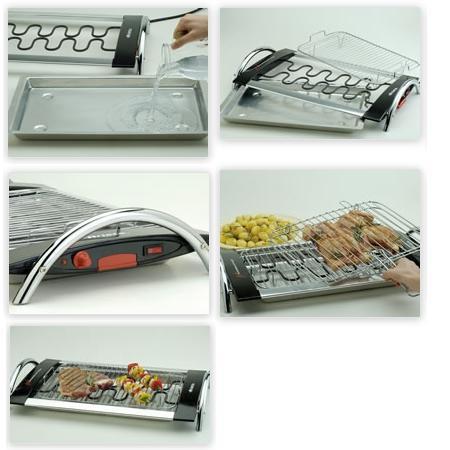 ARIETE Barbecue elettrico leggero e maneggevole - CHURRASCO GRILL 732