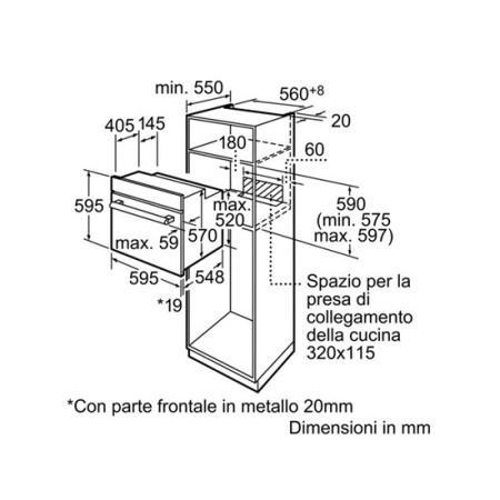 BOSCH Forno elettrico multifunzione da incasso - HBN211S0J