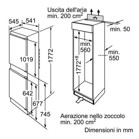 BOSCH Frigorifero Combinato da incasso - KIV 34V21 FF
