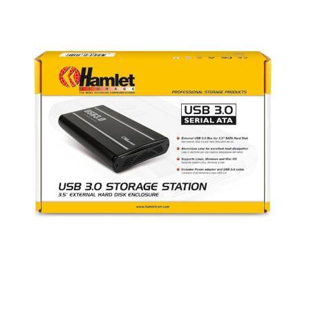 """HAMLET Box esterno per Hard Disk da 3,5"""" - HXD3U3"""