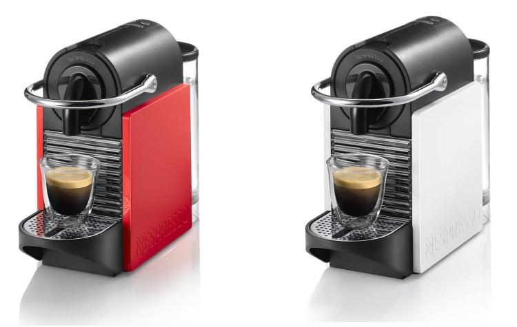 DE LONGHI Macchina per caffè  a capsule - NESPRESSO PIXIE CLIPS EN126 RED-WH