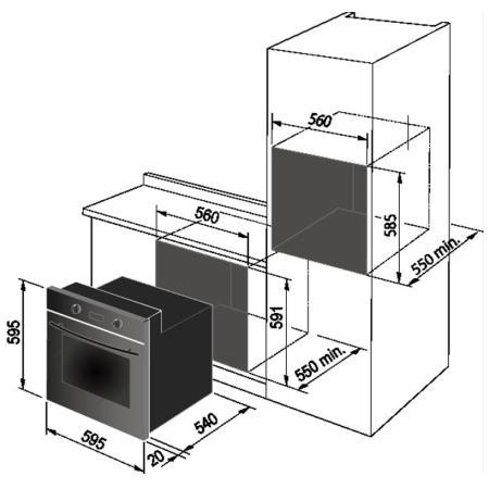 DE LONGHI Forno elettrico multifunzione da incasso - NFMB6