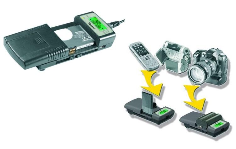 REPORTER Caricabatterie universale per fotocamere - CARICABATTERIE UNIVERSALE 80966