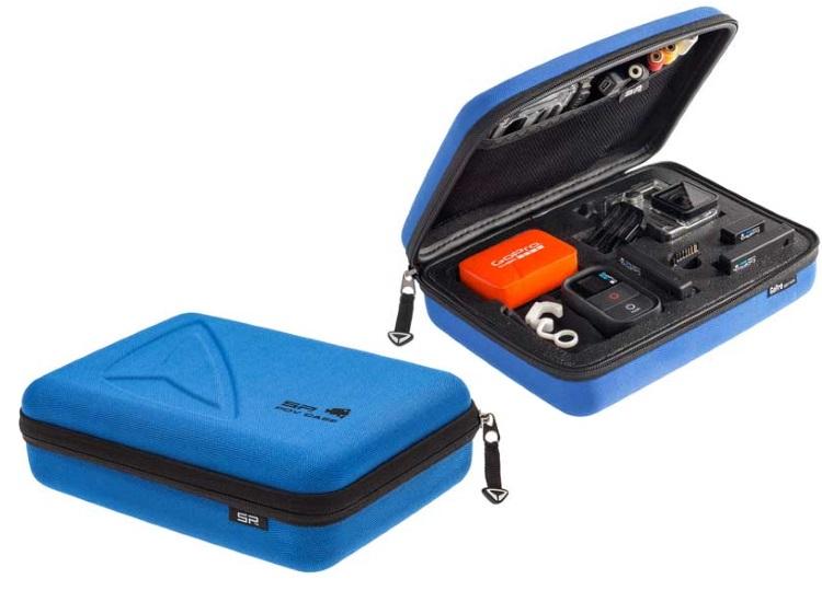 GOPRO Pratica custodia per videocamera GoPro Hero3+ - CUSTODIA POV CASE BLUE SMALL GOPRO 3