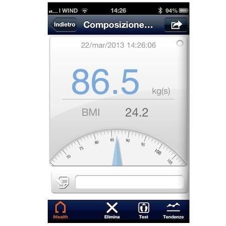 IHEALTH Bilancia pesapersone wireless - HS3
