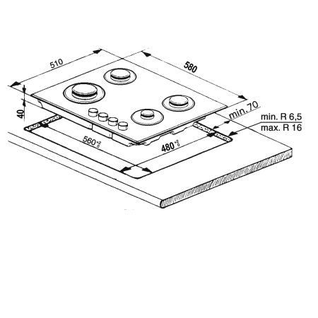 WHIRLPOOL Piano cottura - AKR 310 IX