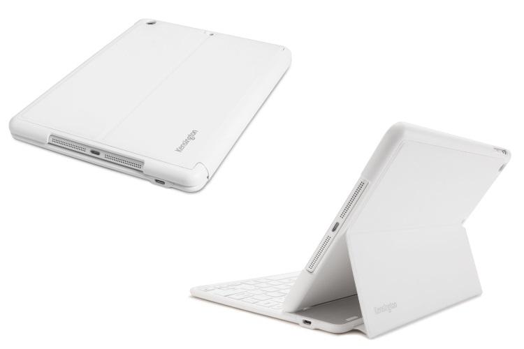 KENSINGTON Custodia per iPad Air 2 con tastiera Bluetooth retroilluminata a 6 file di tasti - KEYFOLIO THIN X2 PLUS WHITE K97392
