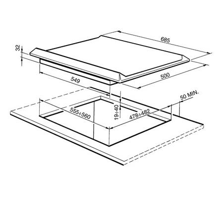 SMEG Piano cottura - SRV576GH5