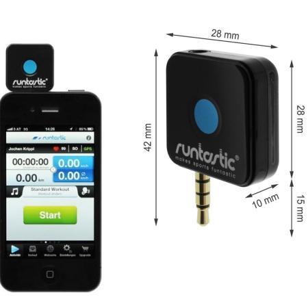 RUNTASTIC Fascia Cardio e ricevitore per smartphone: Trasforma il tuo smartphone in un potente cardiofrequenzimetro GPS - RUNTASTIC RUNDC1 RICEVITORE +FASCIA