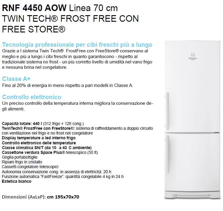 ELECTROLUX Frigorifero Combinato - REX - RNF4450AOW