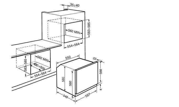 SMEG Forno elettrico multifunzione - SF468X