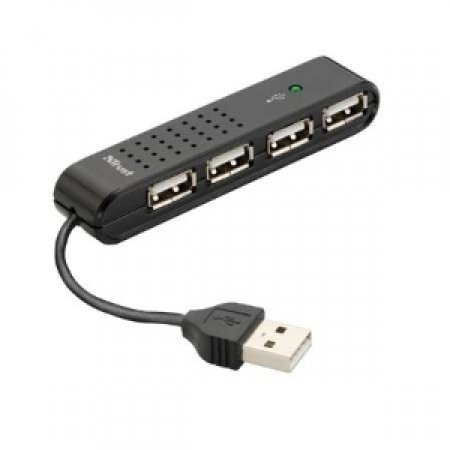 TRUST Hub USB 2.0 ultracompatto a 4 porte - HU-4440P