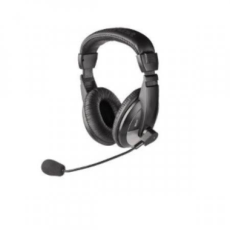 TRUST Cuffie stereo di alta qualità con Microfono ad alta sensibilità dal design flessibile - HEADSET QUASAR 16904