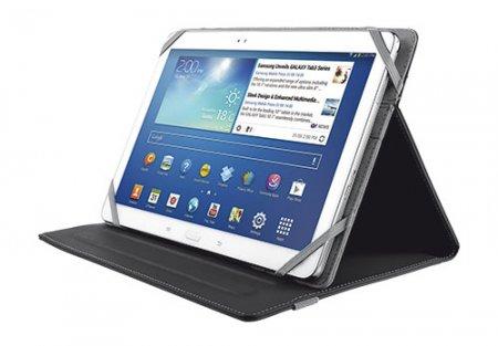 """Trust Custodia universale da 10"""" con supporto regolabile per la protezione del tablet dai graffi - Universal Folio"""