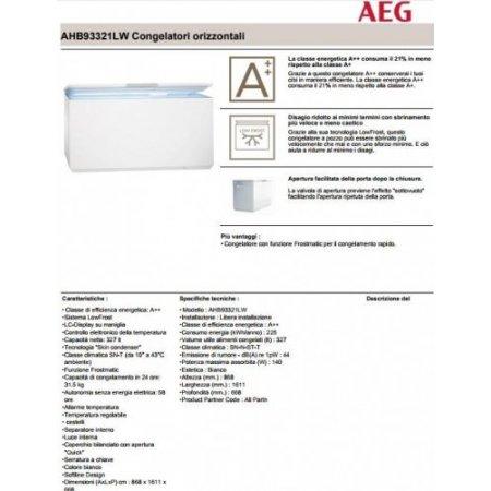 Aeg Congelatore orizzontale statico - Ahb93321lw