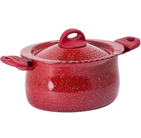 Aeternum S.r.l. - Y0c8pp0260  Rubino Induction Pasta Pot con Coperchio