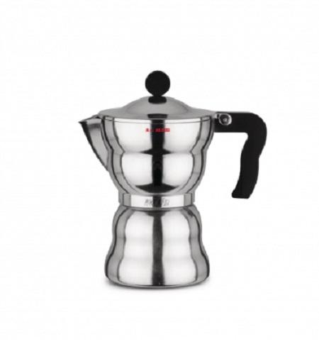MOKA ALESSI 6TZ. Caffettiera espresso in fusione di alluminio