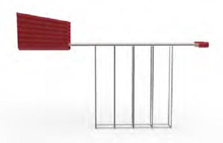 Alessi S.p.a. Pinza in resina termoplastica e acciaio inossidabile 18/10. - Mdl08rackr Plissé Pinza Rossa