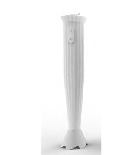 Alessi S.p.a. Frullatore a immersione in resina termoplastica e acciaio inossidabile 18/10. - Mdl10 W Plissé Minipimer Bianco