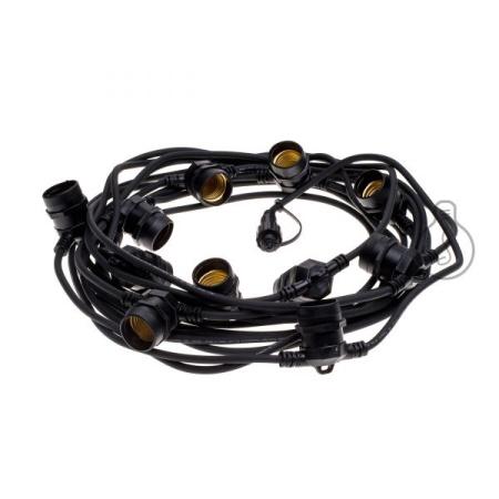 Catenaria nera IP44 La catenaria da esterno di colore nero perfetta per decorare e illuminare il vostro spazio aperto. - Bt500