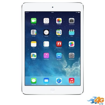 Apple - iPad Mini 2 16GB Wi-Fi +Cellular Silver ME814TY/A