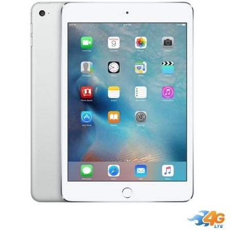 Apple - iPad Mini 4 Wi-Fi +Cell. 128GB Silver