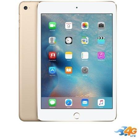 Apple - iPad Mini 4 Wi-Fi +Cell. 128GB Gold