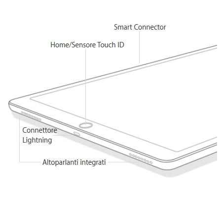 "Apple Display Retina Multitouch da 12.9"", 2732x2048px - iPad Pro 12.9 Wi-Fi 32GB Space Grey"