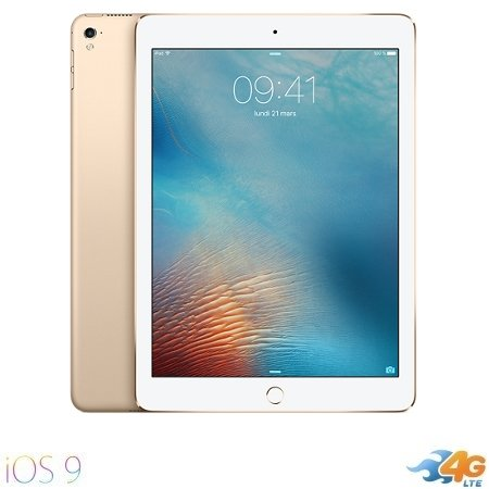 Apple - iPad Pro 9.7 Wi-Fi +Cell. 128GB Gold