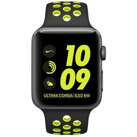 Apple Watchphone - Watch Nike+ 42mm Series 2 Black/ Green Mp0a2ql/a