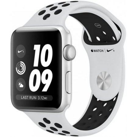 Apple - Watch Nike+ 42mm Mql32ql/a Silver
