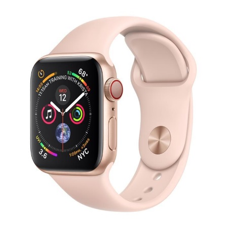 Apple Smartwatch 16gb. - Apple Watch 4 40mm Alluminio Gps+cellular Mtvg2ty/a CINTURINO SPORT ROSA SABBIA
