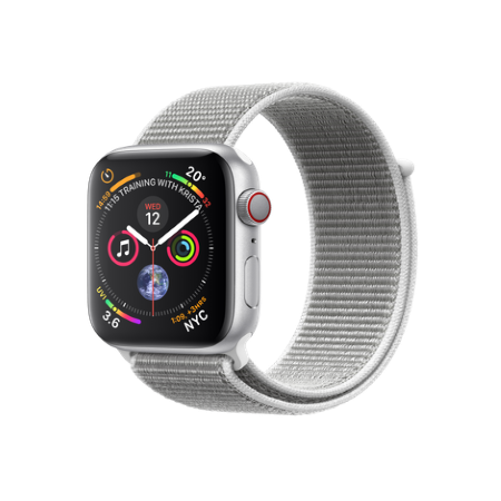Apple - Apple Watch 4 44mm Gps Alluminio Loop Silver-bianco