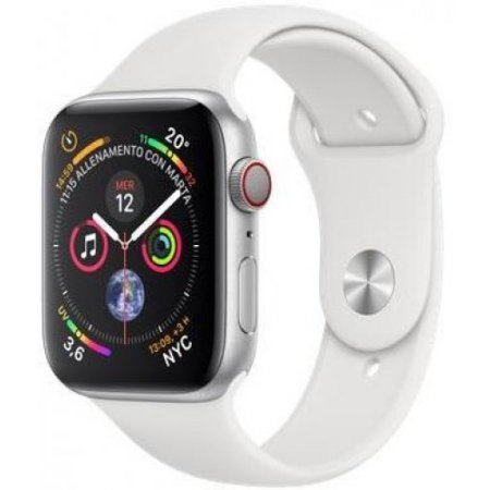 Apple - Apple Watch 4 44mm Alluminio Gps+cellular Mtvr2ty/a Silver-bianco