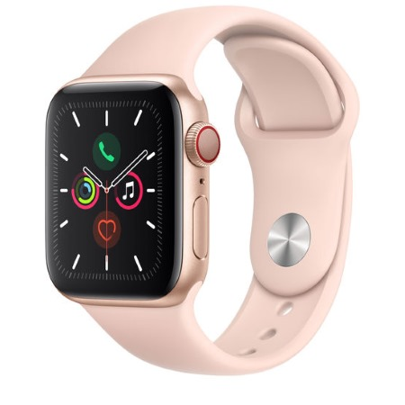 Apple - Watch Series 5 GPS + Cellular 44mm Gold